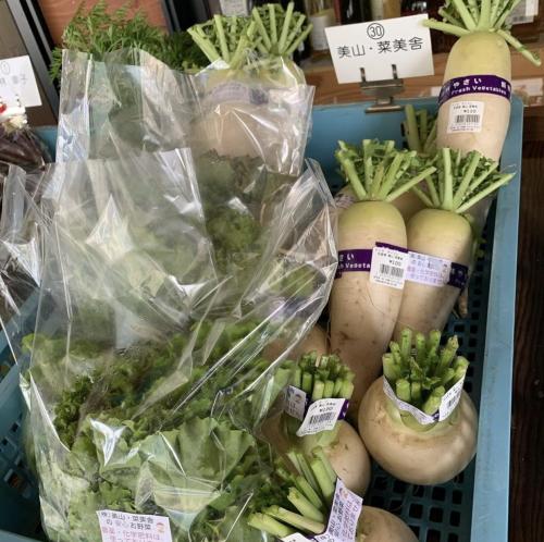 近隣の店舗でも野菜販売
